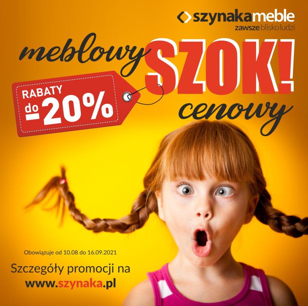 """""""Meblowy Szok Cenowy"""" e z SZYNAKA MEBLE"""